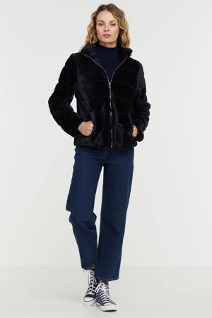 imitatieleren jas Amber donkerblauw