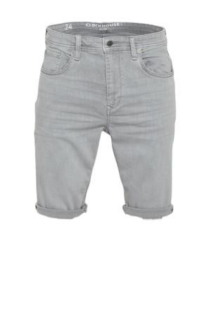 slim fit short grijs