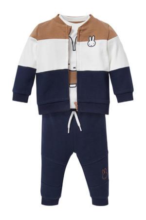 Baby Club Nijntje vest + T-shirt + broek donkerblauw/beige/ecru