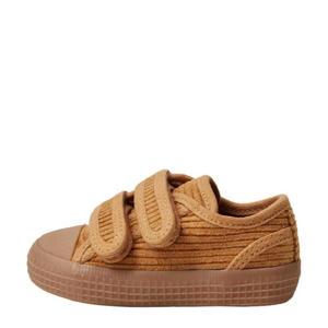 curduroy sneakers okergeel