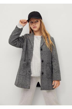 geruite  jas zwart/wit