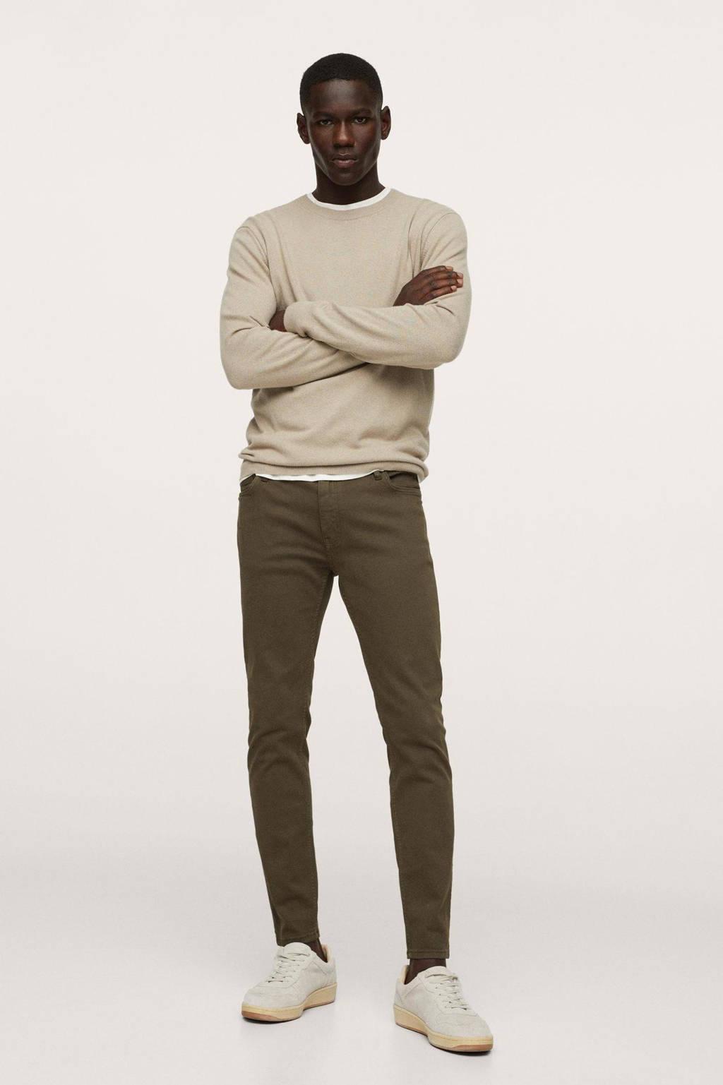 Mango Man skinny jeans beige - kaki