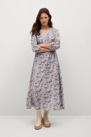gebloemde jurk lila