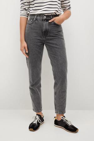 high waist straight fit jeans grijs