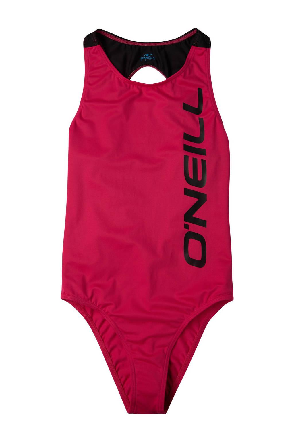 O'Neill badpak Sun & Joy met logo donkerroze, Donkerroze