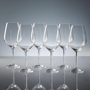 wijnglas xl rood lilly (set van 6)