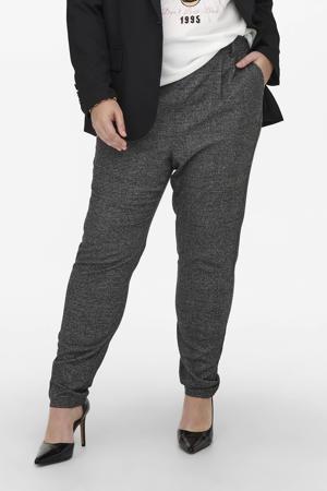 geruite slim fit pantalon CARGOLDTRASH zwart/wit