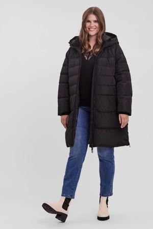 gewatteerde jas VMHELGA van gerecycled polyester zwart