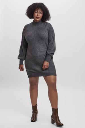 gemêleerde fijngebreide jurk VMLEFILE  grijs