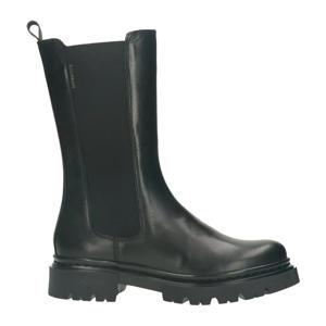 bullboxer   leren chelsea boots zwart