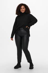 ONLY CARMAKOMA fijngebreide trui CARABBI van gerecycled polyester zwart, Zwart