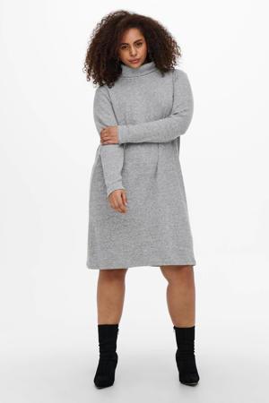 gemêleerde gebreide jurk CARFRILA grijs