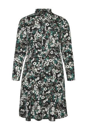 gebloemde blousejurk VMTAMMY zwart/groen/wit