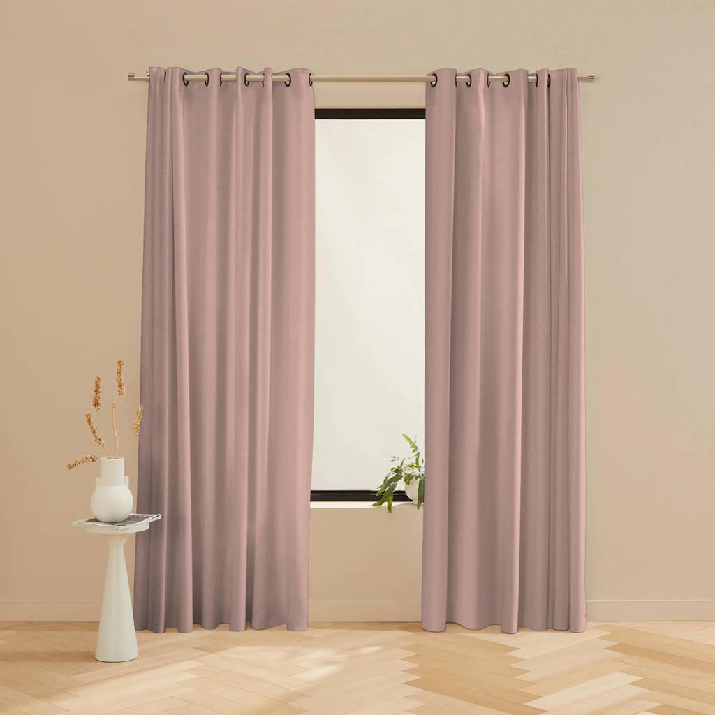 Wehkamp Home verduisterend gordijn op maat Velvet 45 soft pink