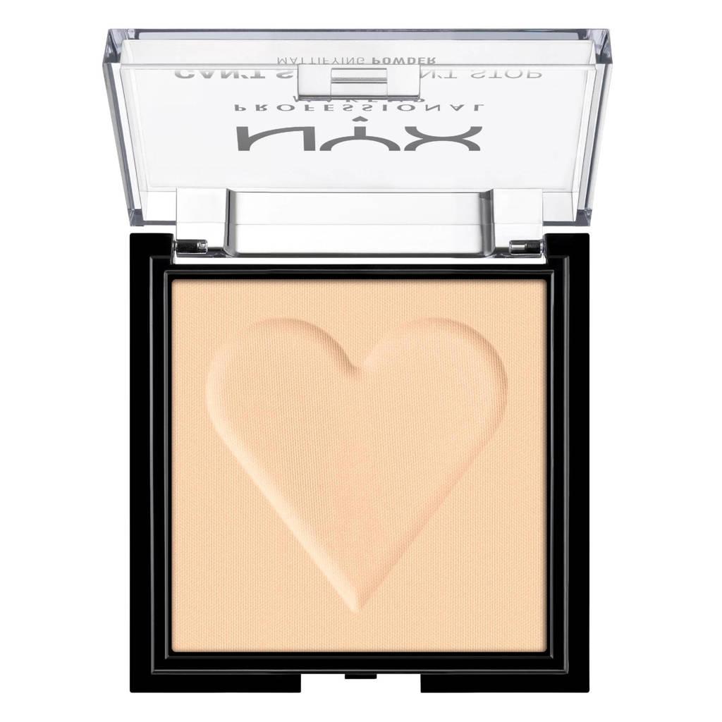 NYX Professional Makeup Can't Stop Won't Stop Mattifying Powder - Light