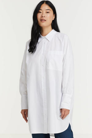 blouse Tokyo 7 van gerecycled polyester wit
