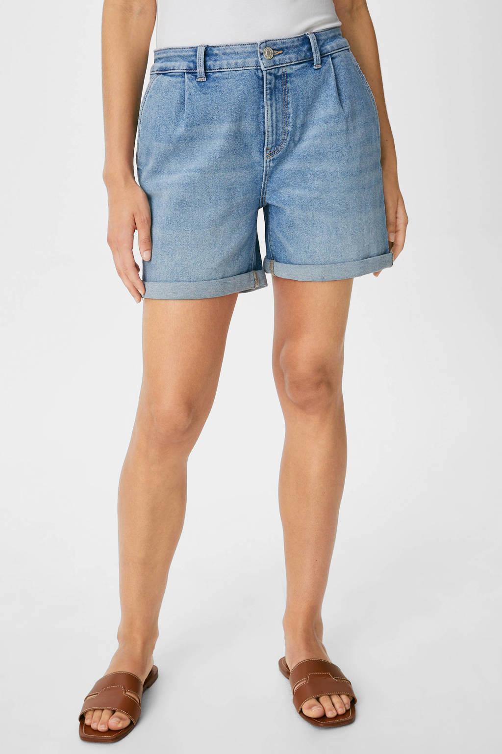 C&A jeans short lichtblauw, Lichtblauw
