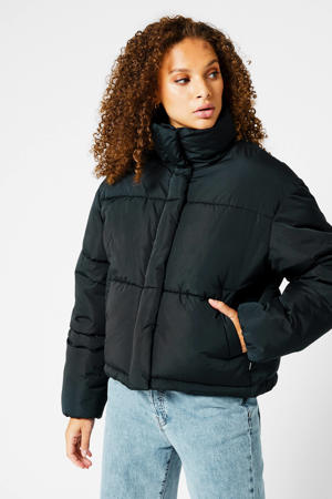 gewatteerde jas Jill black