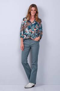 Didi gebloemde blouse blauw, 5652-Balsam with print