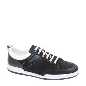 Treviso  suède sneakers donkerblauw