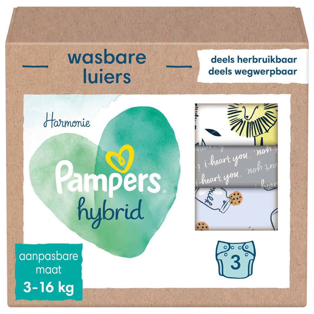 Pampers Harmonie Hybrid Startpakket - 3 wasbare luiers voor baby's