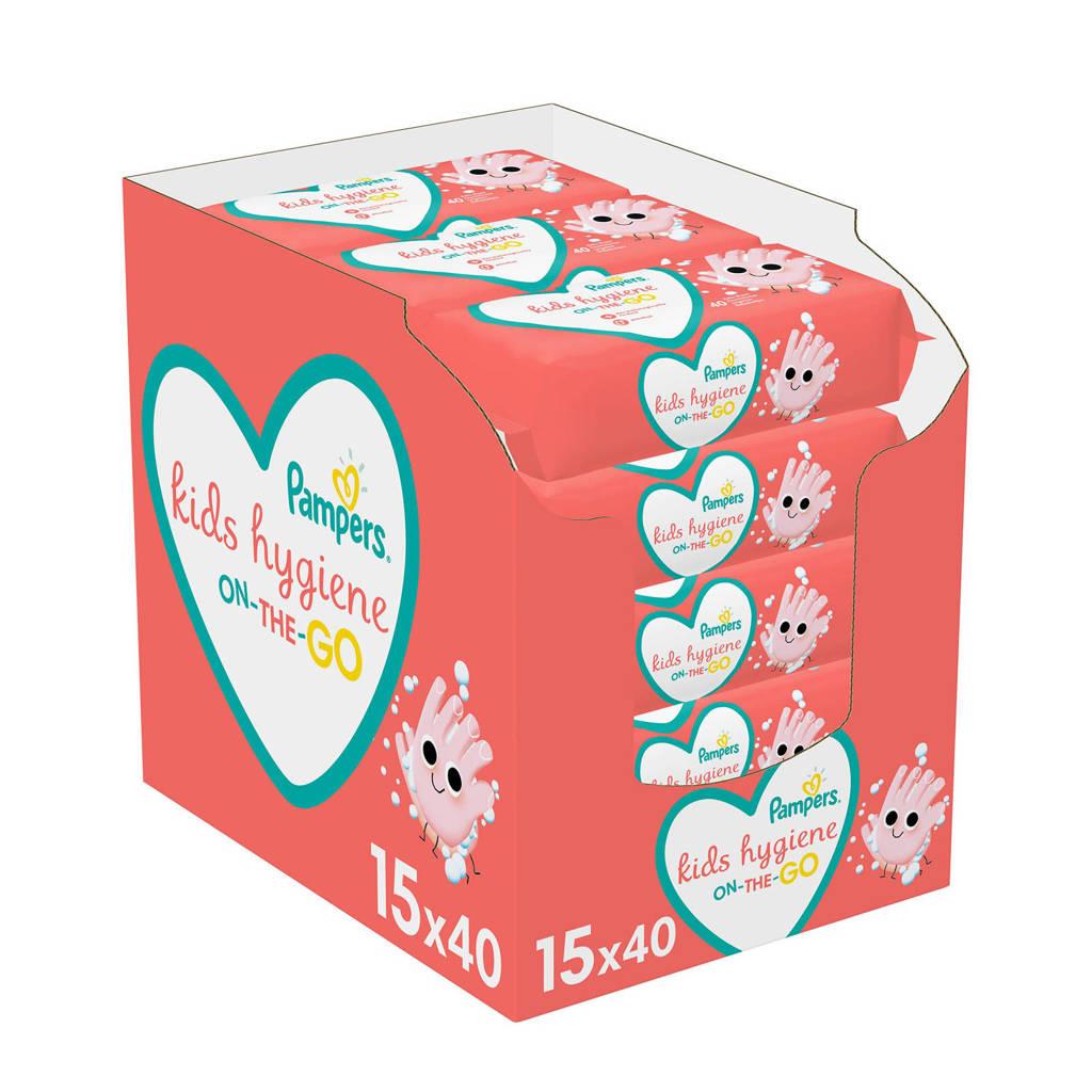 Pampers Kids Hygiene On-The-Go Doekjes - 15 verpakkingen - 600 doekjes