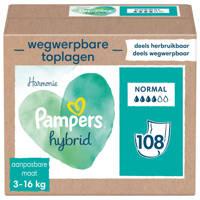 Pampers Harmonie Hybrid wasbare luier - 108 absorberende wegwerpbare toplagen
