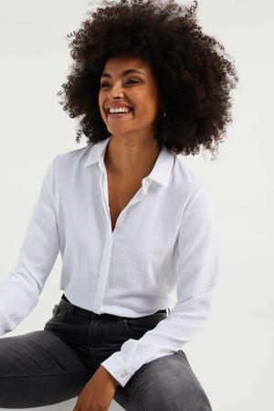 basis blouse wit