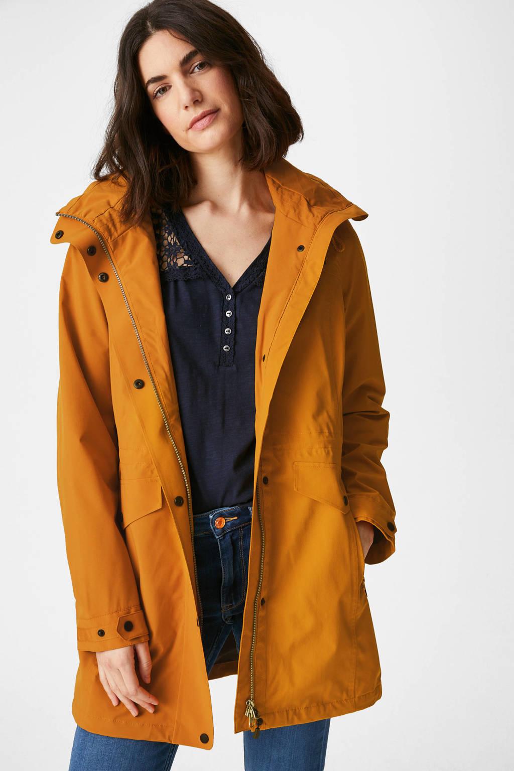 C&A The Outerwear waterproof jas met capuchon oker, Oker