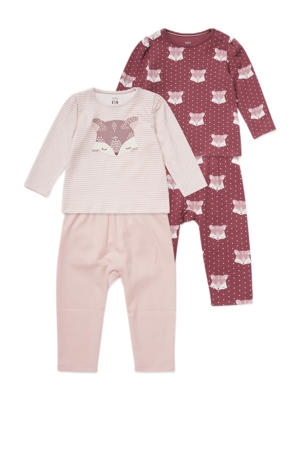 pyjama - set van 2 oudroze