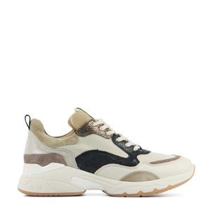 57115 Zaira Fae  leren chunky sneakers ecru/beige