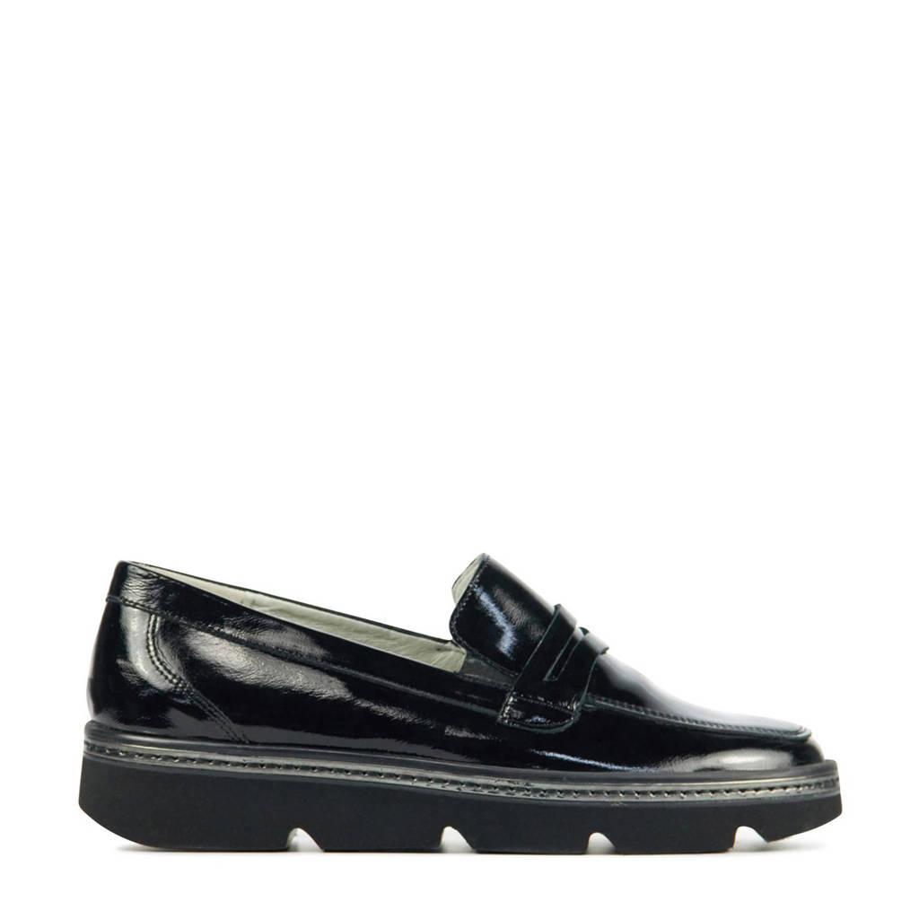 Waldlaufer 768502 comfort lakleren mocassins zwart, Zwart