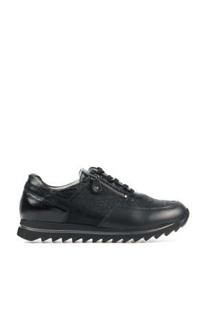 923011 comfort leren veterschoenen zwart