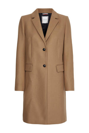 coat met wol camel