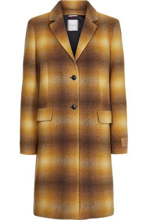 geruite  coat geel/donkerbruin