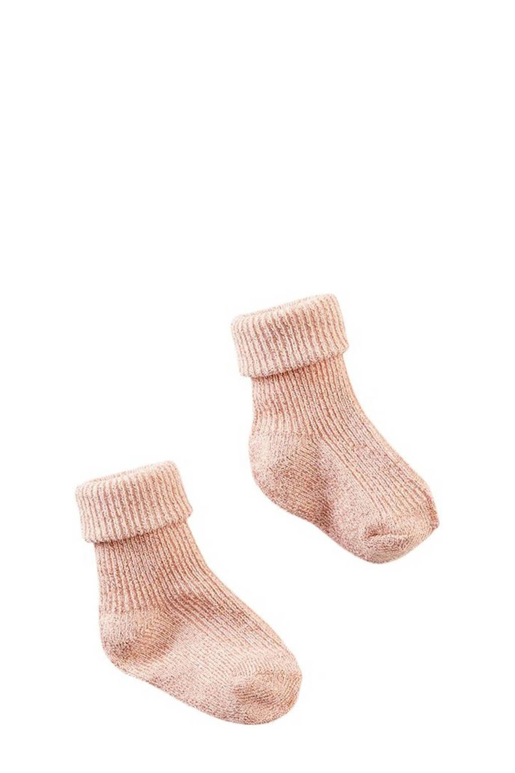 Z8 newborn baby sokken Samoa zalm, Zalm