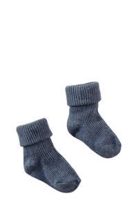 Z8 newborn baby sokken Kiawah donkerblauw, Donkerblauw