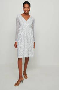 NA-KD gebloemde jurk wit, Wit