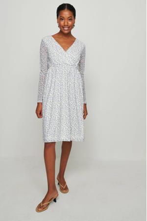 gebloemde jurk wit