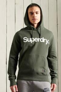 Superdry hoodie met logo ivy green, Ivy Green