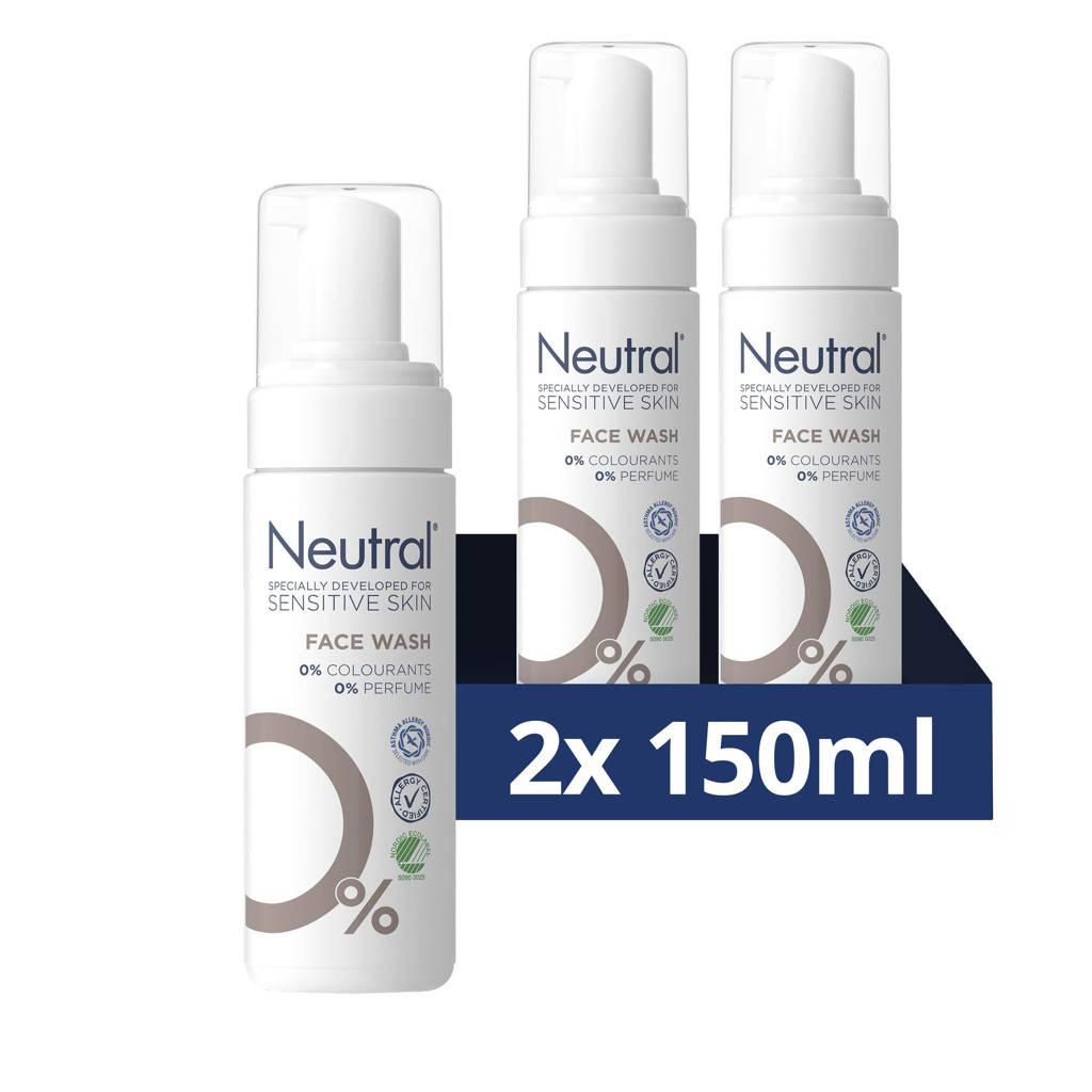 Neutral parfumvrij Face Wash Lotion - 2 x 150 ml - Voordeelverpakking