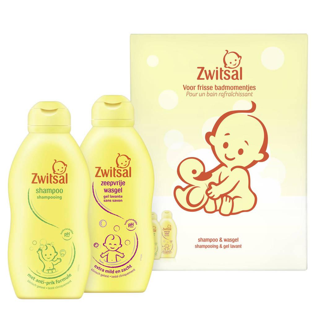 Zwitsal Wasgel + Shampoo Duo Geschenkset - 2-delig 200 ml (2x) - Voordeelverpakking