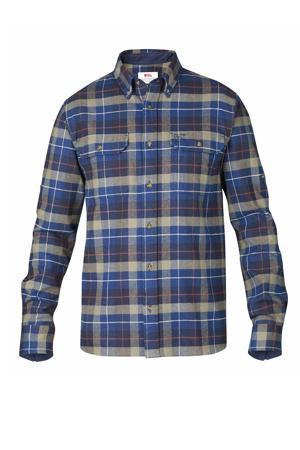 flanellen outdoor overhemd blauw