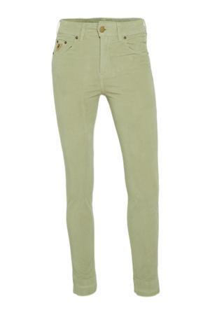 slim fit broek Celia Side groen