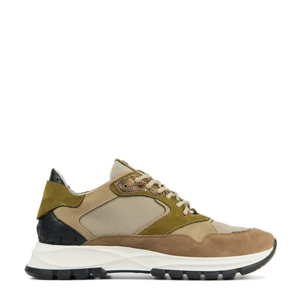 Red Rag 76858  suède sneakers beige/multi, Beige/multi