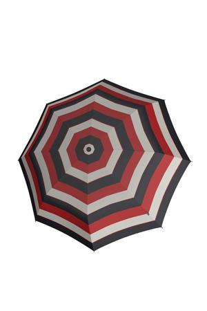 paraplu T-010 Small Manual zwart/rood