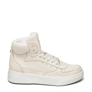 Danoi  hoge leren sneakers beige
