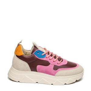 Pitty  suède sneakers roze/multi