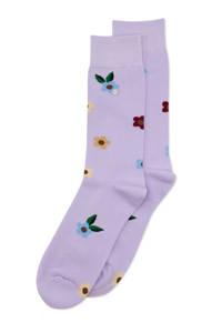 Alfredo Gonzales sokken Flowers lila, Lila