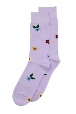 sokken Flowers lila